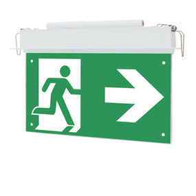 Emergency Exit Sign - LED 3W Recessed LED 24m Viewing