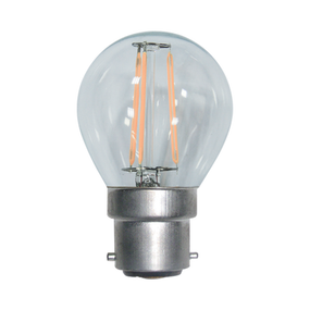 LED Fancy Round Globe 4W Warm White BC Dimmable