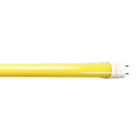 T8 Yellow LED Tube 2FT 10W 700lm - Shatterproof Anti-Bug