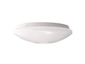 16W Natural White LED Ceiling Oyster Lamp 290mm With Microwave Sensor