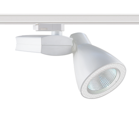 37W Cool White LED Track Light With White Trim