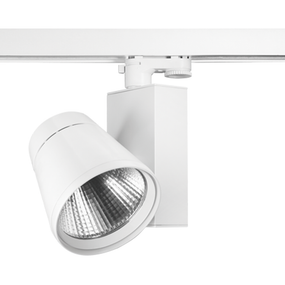 13W Cool White LED Track Light With White Trim