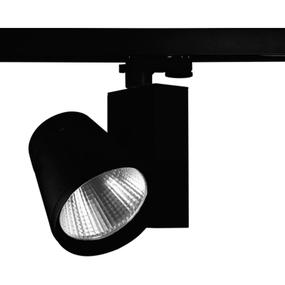 13W Warm White LED Track Light With Black Trim