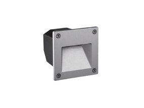 Weatherproof LED Wall light Cool White Open Face Silver