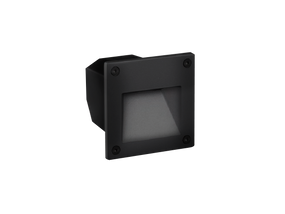 Weatherproof LED Wall light Cool White Open Face Black
