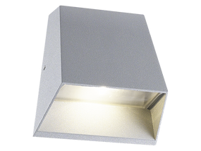 6W Warm White LED Wall Light In Silver
