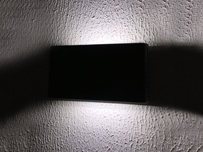 2x5W LED 306 Series Cool White Up/Down Black Wall Light