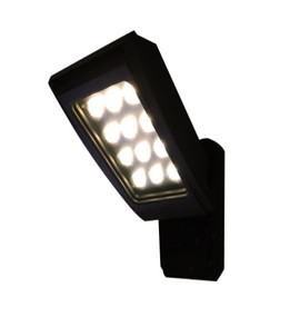 Outdoor Wall Light - 12W LED 1077lm IP65 3000K 145mm Black