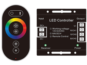 RGB LED Controller With RF Touch Controller
