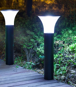 Solar Bollard Lights - Pack of 2 0.5m 50lm 8-12 Hours Light