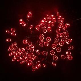 Vibe Red Solar powered Christmas Lights 17m Length