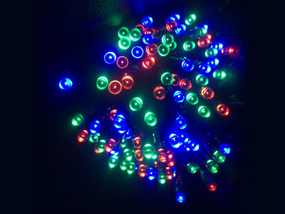 RGB Solar powered Christmas Lights 17m Length
