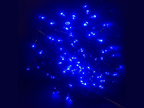 Blue Solar powered Christmas Lights 50m Length
