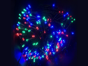 RGB Solar powered Christmas Lights 50m Length