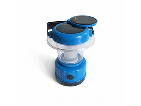 Portable Solar Lantern with built in Panel In Blue