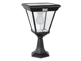 Solar Pillar Light With Motion Sensor - Black 6.2W Bright White