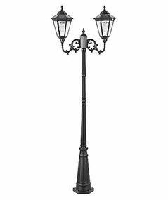 Solar Post Light - 400lm IP44 3000K 2400mm Two Straight Heads