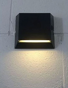 Warm White Solar Wall Light In Black