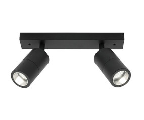 Ceiling Spotlight - Elegant 2 Light Rail Marine Grade IP44 Black