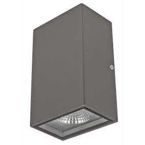 Flush Up Down Wall Light - Charcoal
