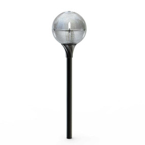 Solar Light on Spike - Stunning, Round, Lasts 8 Hours at Night