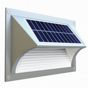 Solar Step Light or Low Wall Light - 8 Hours Lighting Commercial Grade