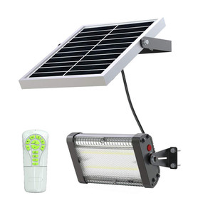 Solar Flood Light With Remote Control - 2000lm IP65 5000K 152mm Commercial Strength