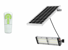 Solar Flood Light With Remote Control - 4000lm IP65 5000K 300mm Commercial Strength