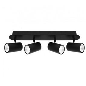 Ceiling Lights - 4 Adjustable LED Spotlights Black C400