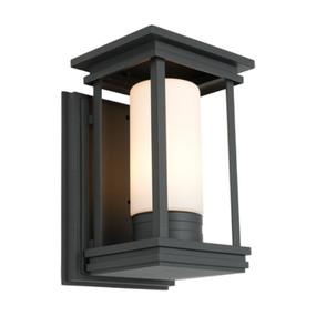 Marine Grade Classic Lantern Wall light - Black