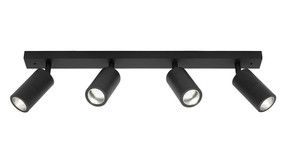 Ceiling Spotlight - Elegant 4 Light Rail Marine Grade IP44 Black