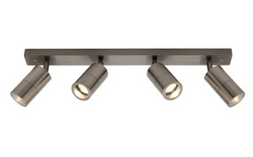 Ceiling Lights - Marine Grade 4 Adjustable GU10 Spotlights Titanium C400