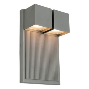 Ultra Modern Boxed Wall Light - 6W Pewter