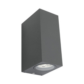 Up Down Light - 240V Marine Grade IP44 150mm Charcoal