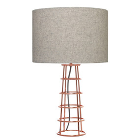 Table Lamp -  Elegant Drum 60W Copper