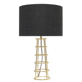 Table Lamp -  Elegant Drum 60W Brass