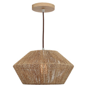 Pendant Light - Classy Timber Accent Small 60W Brown