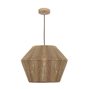 Pendant Light - Classy Timber Accent Large 60W Brown