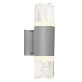 Up Down Light - Marine Grade Cylindrical 3000K 435lm Silver
