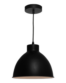 Pendant Light - Chic Rounded 60W Black