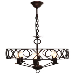 Pendant Light - Gothic 6 Lights 40W Rustic