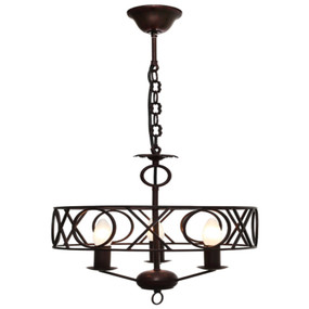 Pendant Light - Gothic 3 Lights 40W Rustic