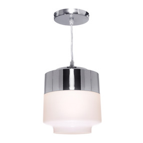 Pendant Light - Smooth Modern 60W Chrome