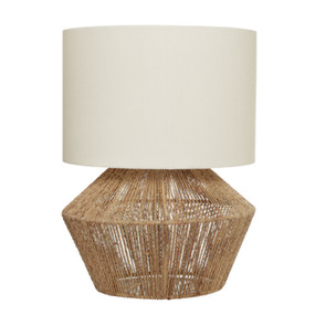 Table Lamp - Unique Modern Threaded 60W Brown