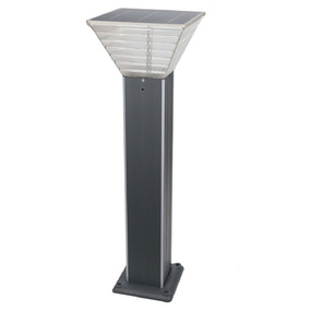 Solar Bollard Light - 300lm IP44 Dual Colour 800mm Grey Industrial Strength