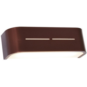 Wall Light - Sleek Rectangular 3000K 1260lm 16W Dark Copper