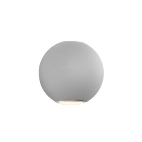 Up Down Light - Sleek Rounded 3000K 377lm Silver