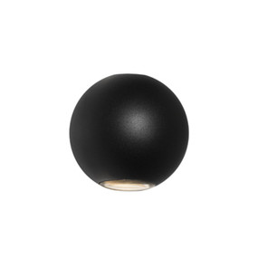 Up Down Light - Marine Grade Round 3000K 377lm Black