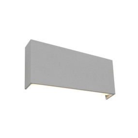 Up Down Light - Marine Grade Modern Angular 3000K 535lm Silver