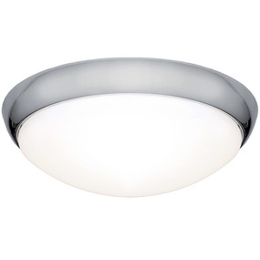 Oyster Light - Modern Dome 3000K 1350lm 27W Chrome